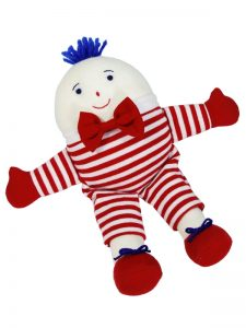 Small Humpty Dumpty Baby Toy Red Stripe by Kate Finn Australia