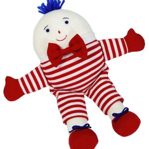 Small Humpty Dumpty Baby Toy Red Stripe by Kate Finn Australia