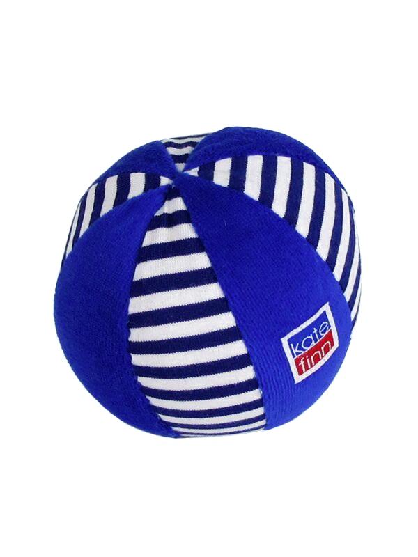 Ball Baby Toy Navy Stripe by Kate Finn Australia