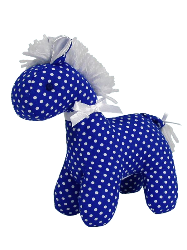 Royal Pin Spot Mini Horse Baby Toy by Kate Finn Australia