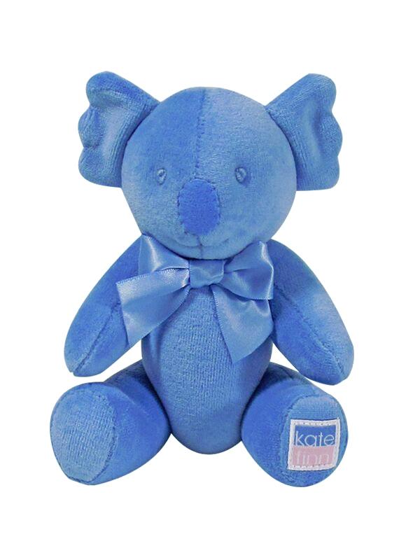 Blue Velvet Koala Baby Toy Designed by Kate Finn Australia