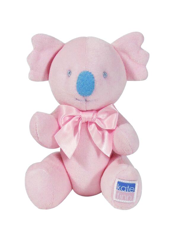 Pink Velvet Koala Baby Toy Designed by Kate Finn Australia