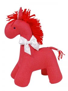 Red Micro Dot Horse Baby Toy by Kate Finn Australia