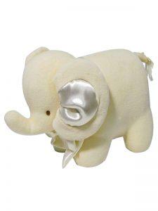 Cream Velvet Elephant Baby Toy by Kate Finn Australia