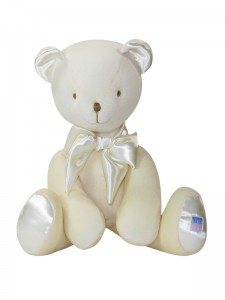Cream Velvet Bear Baby Toy
