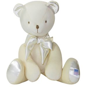 Cream Velvet Bear Baby Toy