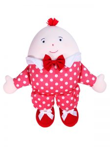 Humpty Dumpty Baby Toy Red Chambray Dot by Kate Finn Australia