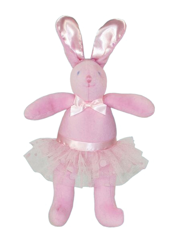 Ballet Bunny Squeaker Baby Toy by Kate Finn Australia