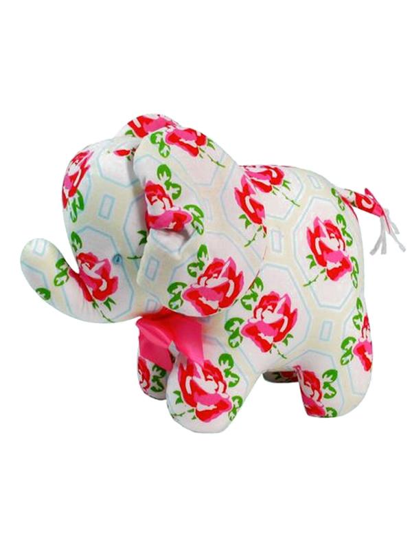 Ivory Rose Elephant Baby Toy by Kate Finn Australia
