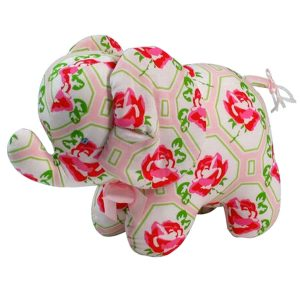 Pink Rose Elephant Baby Toy by Kate Finn Australia