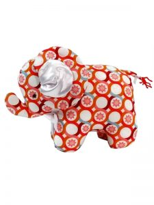 Persimmon Loops Elephant Baby Toy by Kate Finn Australia