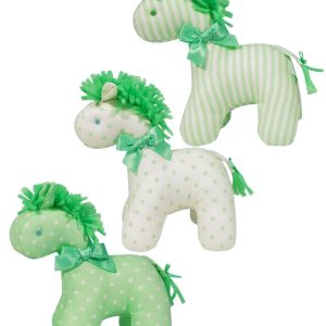 Green n Cream Mini Horse Baby Toy by Kate Finn Australia