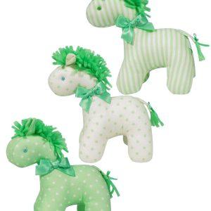 Green n Cream Mini Horse Baby Toy by Kate Finn Australia