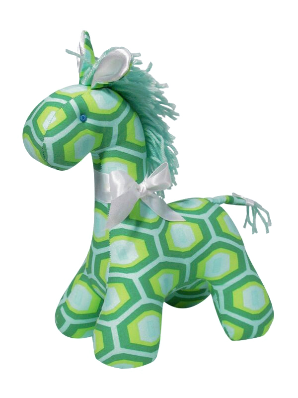 Green Honeycomb Horse by Kate Finn