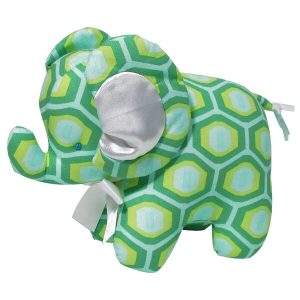 Green Honeycomb Elephant Baby Toy by Kate Finn Australia