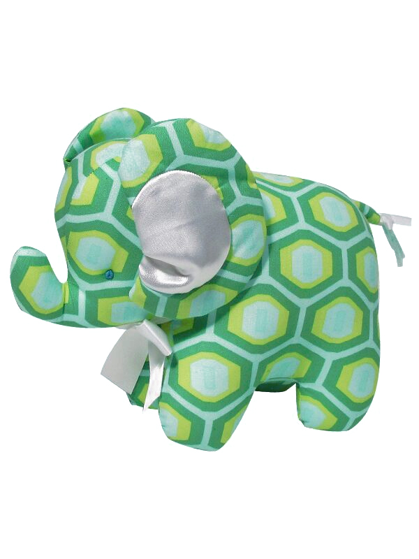 Green Honeycomb Elephant Baby Toy by Kate Finn Australia