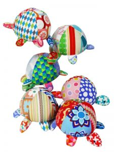 Patchwork Turtle Baby Toy by Kate Finn Australia