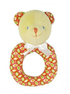 Watermelon Pips Bear Baby Ring Rattle
