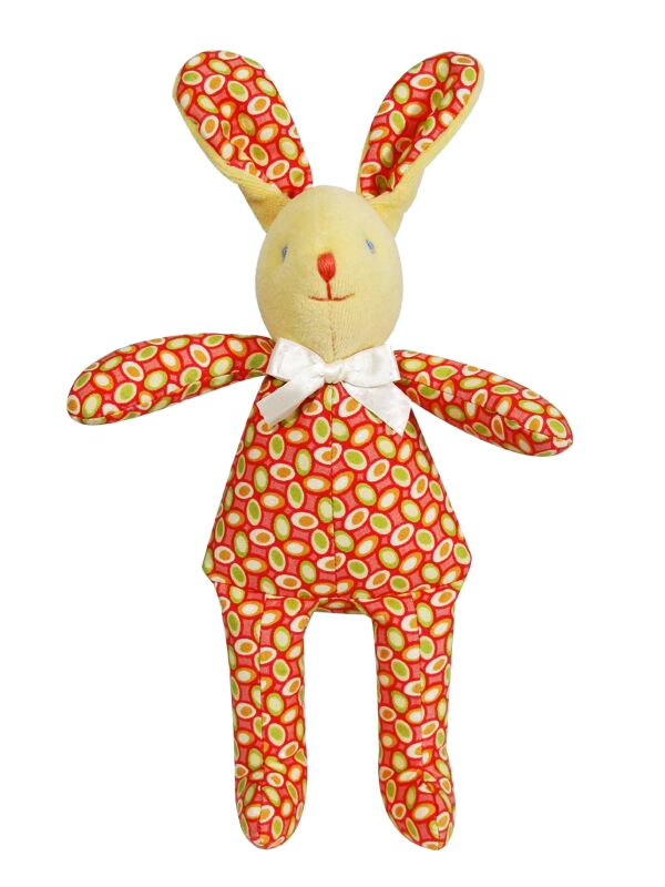 Watermelon Pips Bunny Squeaker Baby Toy by Kate Finn Australia