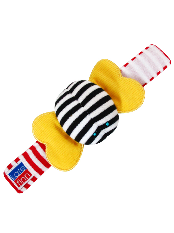 Bumble Bee Wrist Rattle Baby Toy by Kate Finn Australia