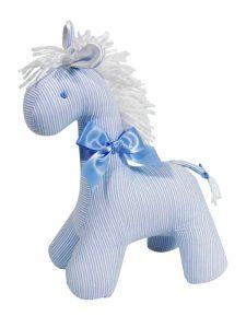 Fine Blue Stripe Horse Baby Toy by Kate Finn Australia
