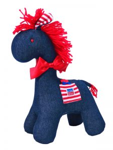 Denim Horse Baby Toy By Kate Finn Australia