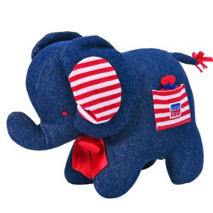 Denim Elephant Baby Toy By Kate Finn Australia