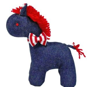 Denim Mini Horse Baby Toy by Kate Finn Australia