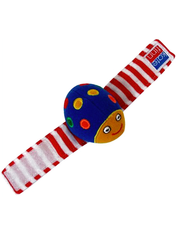 Primary Beetle Wrist Rattle Baby Toy by Kate Finn Australia