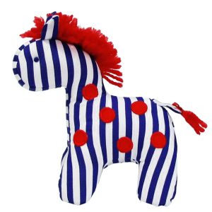 Dotty Navy Stripe Mini Horse Baby Toy by Kate Finn Australia