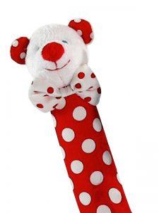 Red Polka Dot Bear Squeaker by Kate Finn Australia