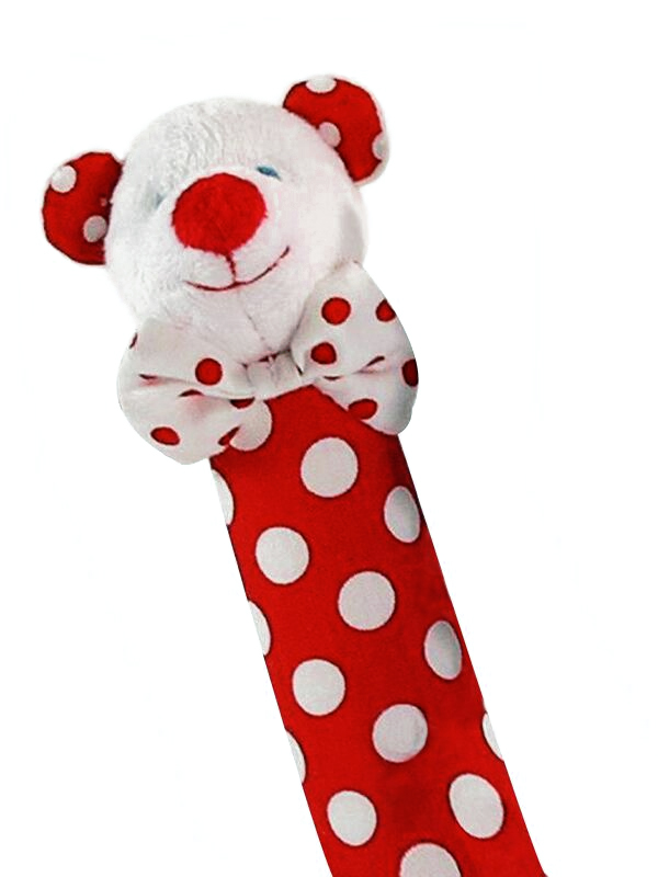 Red Polka Dot Bear Squeaker by Kate Finn Australia