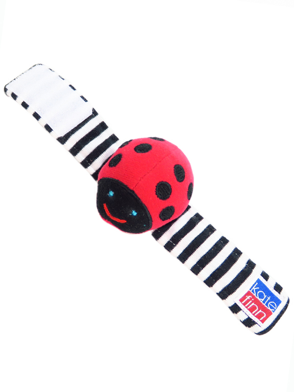 Ladybug Wrist Rattle Baby Toy by Kate Finn Australia
