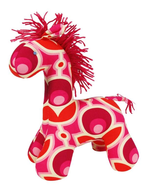 Mod Floral Horse Baby Toy by Kate Finn Australia
