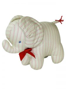 Green Chain Stripe Elephant Baby Toy by Kate Finn Australia