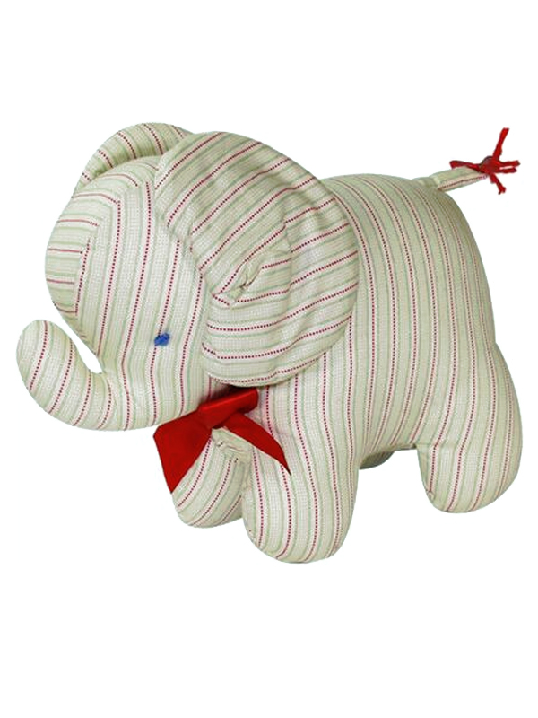 Green Red Ticking Elephant Baby Toy by Kate Finn Australia