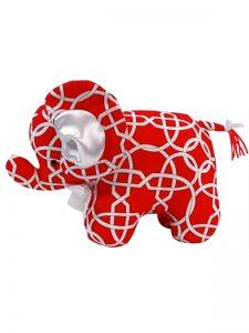 Red Wicker Elephant Baby Toy by Kate Finn Australia