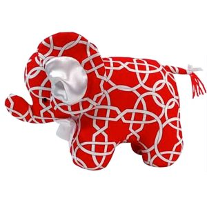 Red Wicker Elephant Baby Toy by Kate Finn Australia