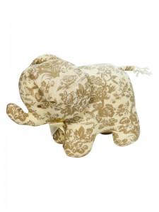 Antique Toile Elephant Baby Toy by Kate Finn Australia