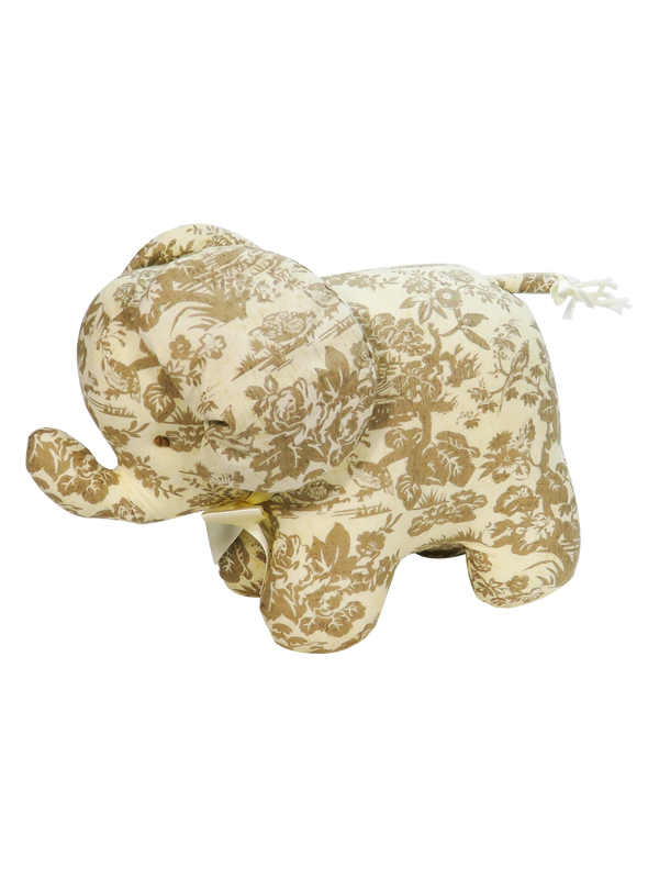 Antique Toile Elephant Baby Toy by Kate Finn Australia