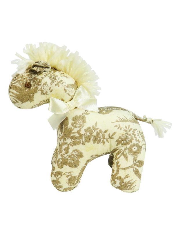 Antique Toile Mini Horse Baby Toy by Kate Finn Australia