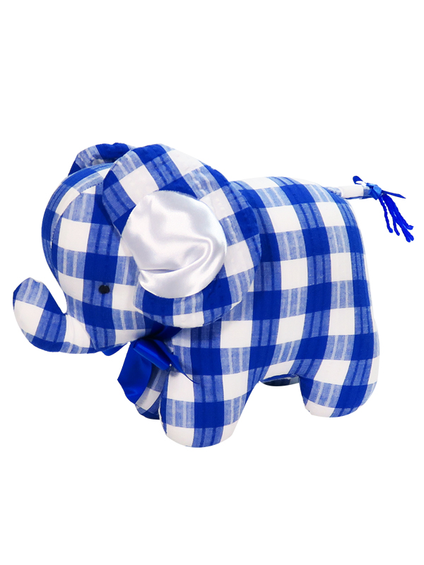 Royal Check Elephant Baby Toy by Kate Finn Australia