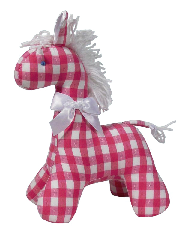 Lipstick Check Horse Baby Toy by Kate Finn Australia