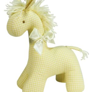 Caramel Check Horse Baby Toy by Kate Finn Australia