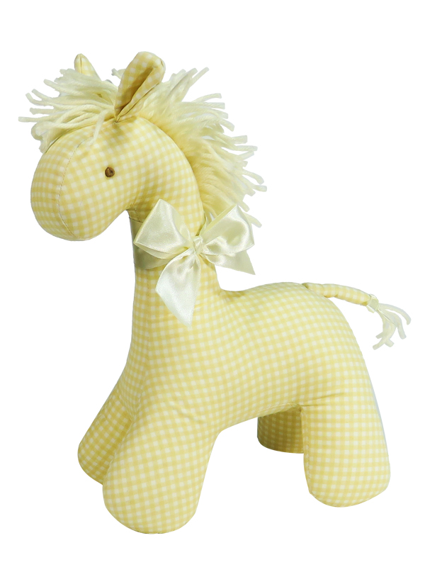 Caramel Check Horse Baby Toy by Kate Finn Australia