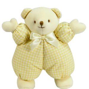 Caramel Check Puff Bear Baby Toy