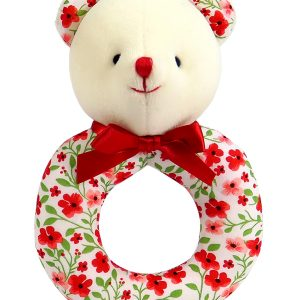Poppy Bear Baby Ring Rattle by Kate Finn Australia