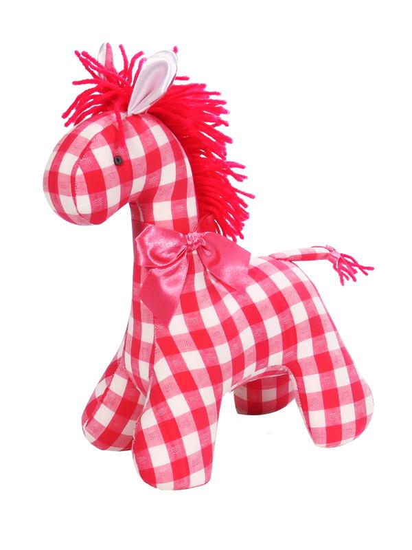 Tomato Check Horse Baby Toy by Kate Finn Australia