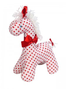Red Dot Horse Baby Toy by Kate Finn Australia