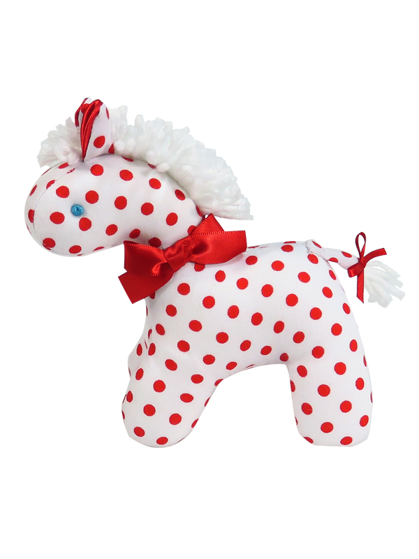 Red Dot Mini Horse Baby Toy by Kate Finn Australia